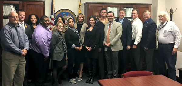 DLLR Secretary Kelly M. Schulz and the Maryland Apprenticeship and Training team