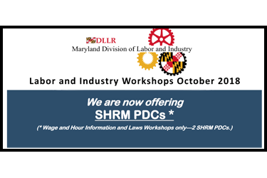 Division of Labor and Industry workshops